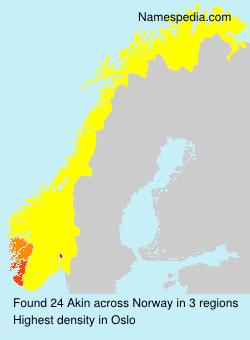 Surname Akin in Norway