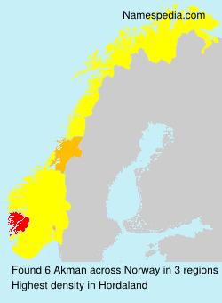 Surname Akman in Norway