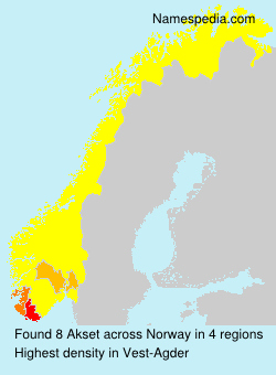 Surname Akset in Norway