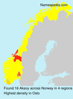 Surname Aksoy in Norway