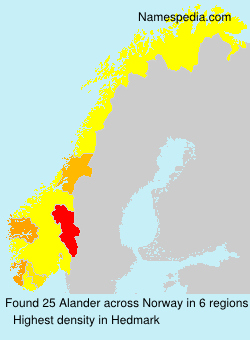 Surname Alander in Norway