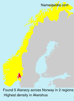 Surname Alanezy in Norway