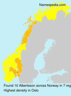 Surname Albertsson in Norway