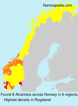 Surname Alcantara in Norway