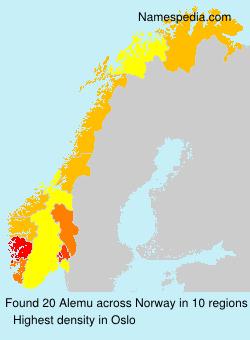 Surname Alemu in Norway