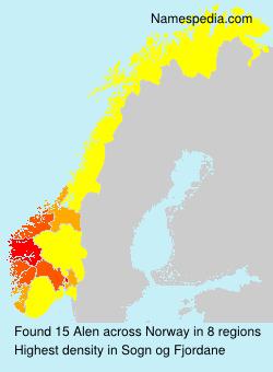 Surname Alen in Norway