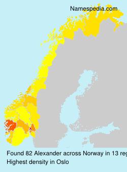 Surname Alexander in Norway