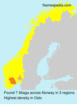 Surname Aliaga in Norway