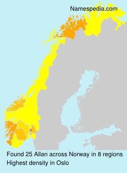 Surname Allan in Norway