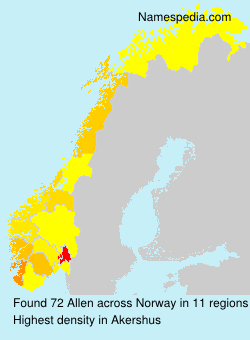 Surname Allen in Norway