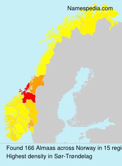 Familiennamen Almaas - Norway