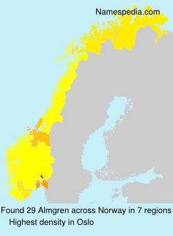 Surname Almgren in Norway