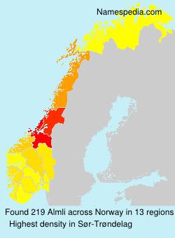 Familiennamen Almli - Norway