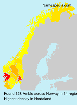Familiennamen Amble - Norway