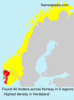 Surname Andera in Norway