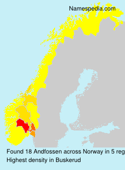 Surname Andfossen in Norway