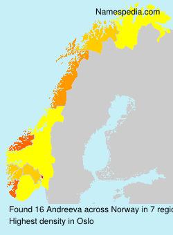 Surname Andreeva in Norway
