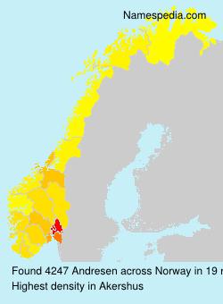 Surname Andresen in Norway