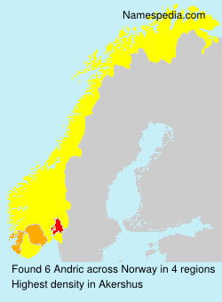 Surname Andric in Norway