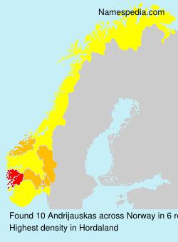 Surname Andrijauskas in Norway
