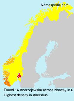 Surname Andrzejewska in Norway