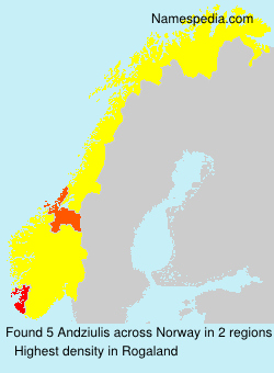 Surname Andziulis in Norway