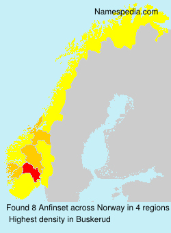 Surname Anfinset in Norway