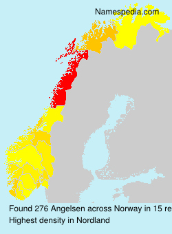 Surname Angelsen in Norway