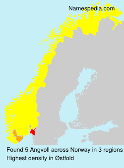 Surname Angvoll in Norway