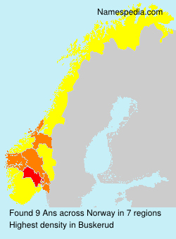 Surname Ans in Norway