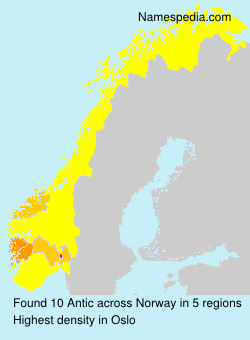 Surname Antic in Norway