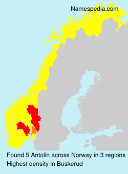 Familiennamen Antolin - Norway