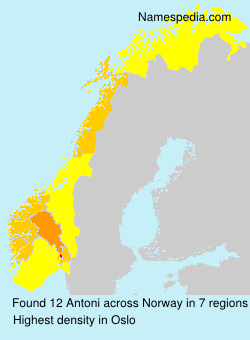 Surname Antoni in Norway