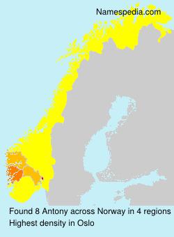 Surname Antony in Norway