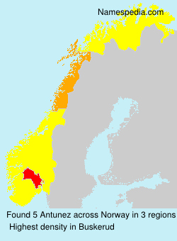 Surname Antunez in Norway