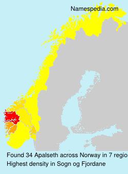 Surname Apalseth in Norway