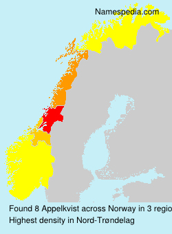 Surname Appelkvist in Norway