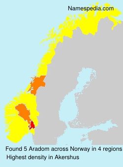 Surname Aradom in Norway