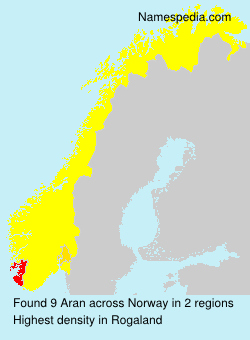 Surname Aran in Norway