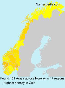 Surname Araya in Norway