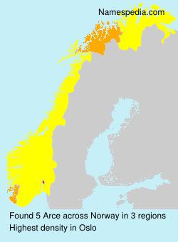 Surname Arce in Norway