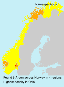 Surname Arden in Norway