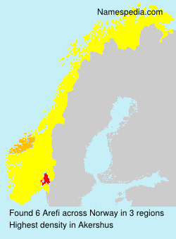 Surname Arefi in Norway