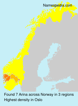 Surname Arina in Norway