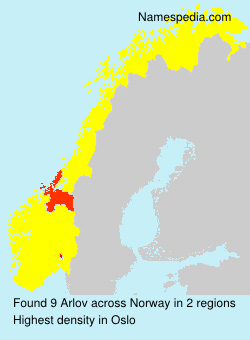 Surname Arlov in Norway