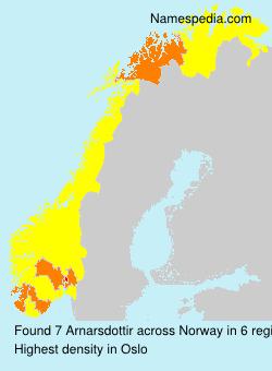 Surname Arnarsdottir in Norway