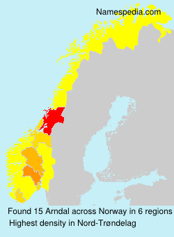 Surname Arndal in Norway