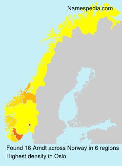 Surname Arndt in Norway