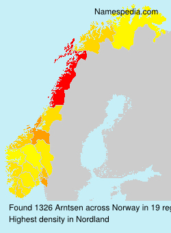 Surname Arntsen in Norway