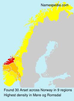 Familiennamen Arset - Norway